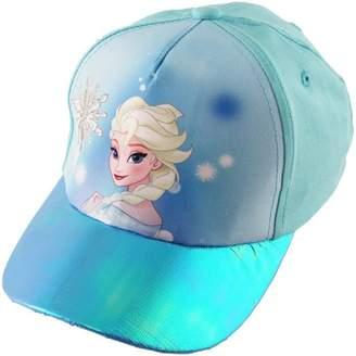 Disney Little Girls Frozen Princess Elsa Cotton Baseball Cap, Ages 4-7