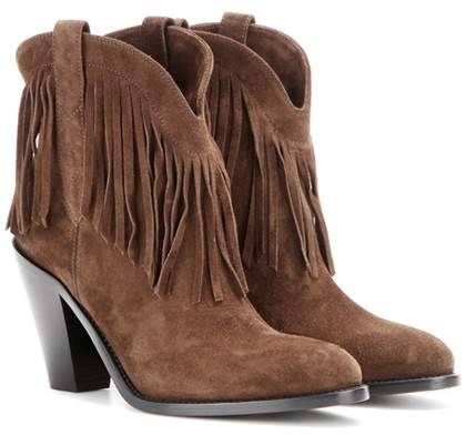 Saint Laurent Curtis 80 fringed suede cowboy boots