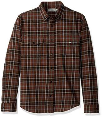 Vince Men's Flannel Plaid Western Long Sleeve Button Down