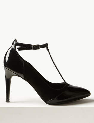 Marks and Spencer Stiletto Heel T-Bar Court Shoes