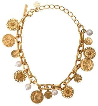 Oscar de la Renta coin charm necklace