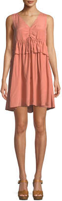 See by Chloe Self-Tie Sleeveless Mini Dress