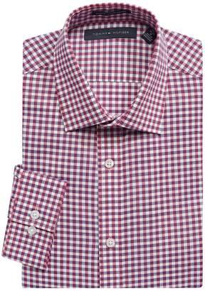 Tommy Hilfiger Slim-Fit Plaid-Print Dress Shirt