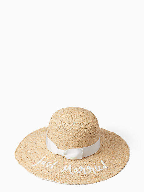 58819950e7b31 Just married sunhat detail image