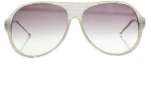 Raf Simons Glacier Stripe Aviator Sunglasses