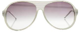 Raf Simons Glacier Stripe Aviator Sunglasses $325 thestylecure.com