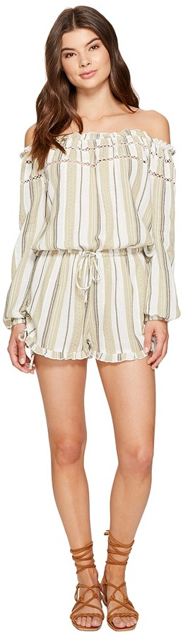 Roxy - Anthem Cold Shoulder Romper Women's Jumpsuit & Rompers One Piece