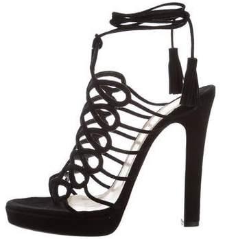 Christian Louboutin Cutout High-Heel Sandals