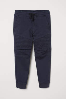 H&M Twill Pull-on Pants - Blue