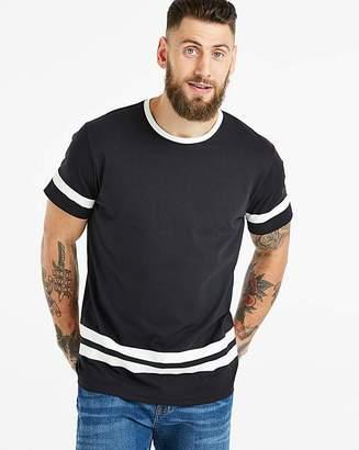 Jacamo Sleeve and Hem Stripe T-Shirt L