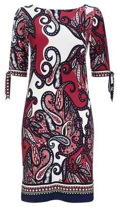 Wallis Stone Paisley Split Sleeve Tunic Dress