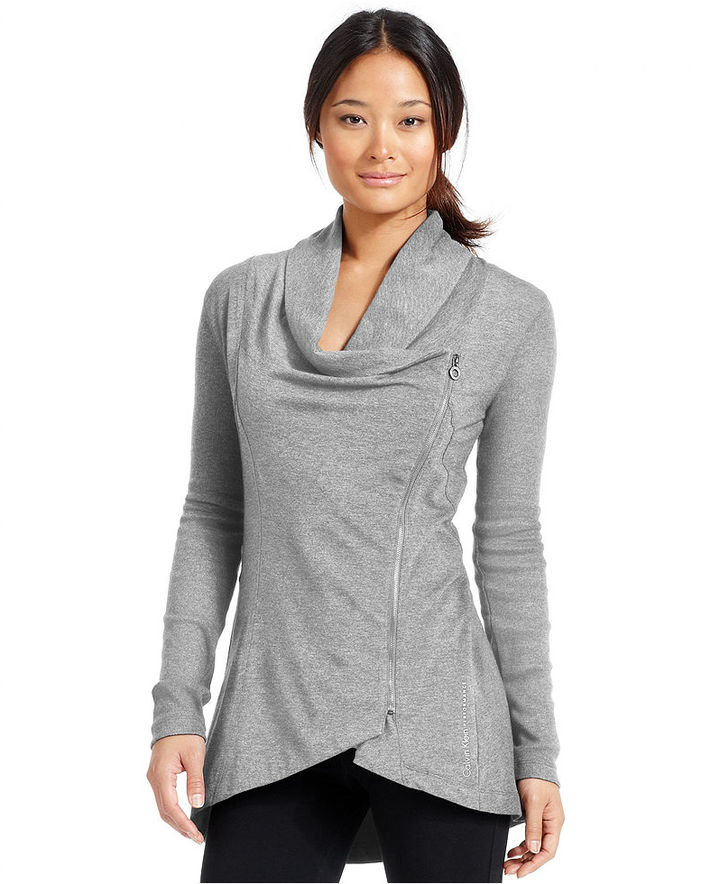 Calvin Klein Jacket, Asymmetrical Shawl-Collar High-Low