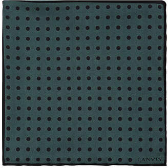 Lanvin Men's Dotted Silk Twill Pocket Square