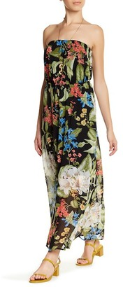 Bobeau Tropical Print Strapless Maxi Dress (Petite) $78 thestylecure.com