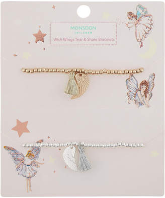 Monsoon Make A Wish Wing Tear & Share Bracelets