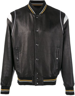 Givenchy embossed logo leather jacket