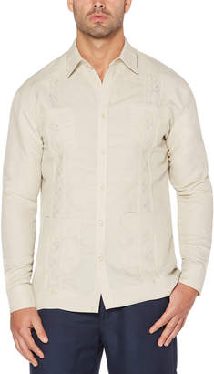 Cubavera Long Sleeve Embroidered Classic Guayabera