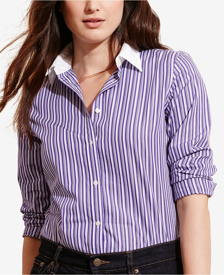 Lauren Ralph LaurenLauren Ralph Lauren Plus Size Printed Long-Sleeve Shirt