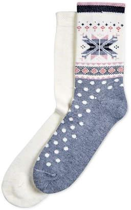 Hue 2-Pk. Fair Isle Boot Socks