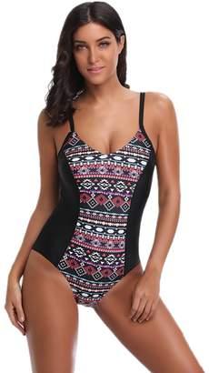 3c45dfba47 at Amazon Canada · Là Vestmon Sexy Ethnic Print Tummy Control Swimsuit One-Piece  Bikini Summer Beachwear Swimwear