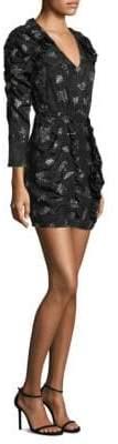Rebecca Taylor Ruched Floral Dress