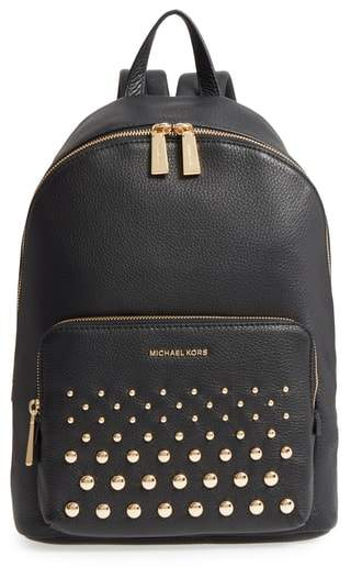 Michael Kors Large Wythe Studded Leather Backpack