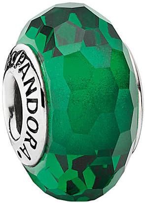 Pandora Silver Green Murano Glass Charm
