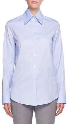The Row Ravia Button-Front Cotton Shirt