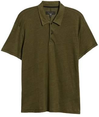 Rag & Bone Owen Regular Fit Linen Polo
