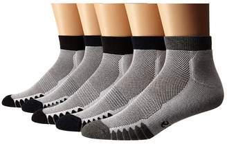 Ecco Socks Anklet Cushion w/ Mesh Top Socks - 5 pack Men's Quarter Length Socks Shoes
