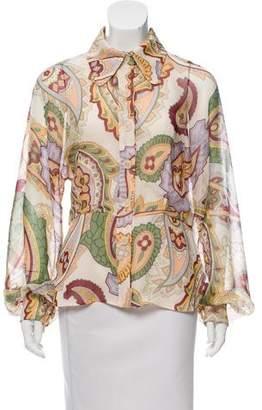 Chloé Printed Silk Top