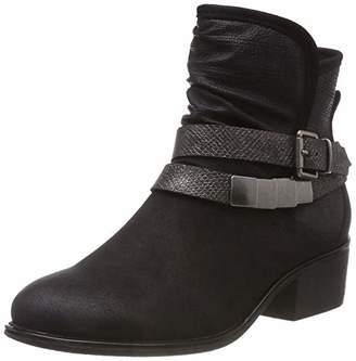 Rieker Women's 98680 Ankle Boots, Black Schwarz/Antik 00