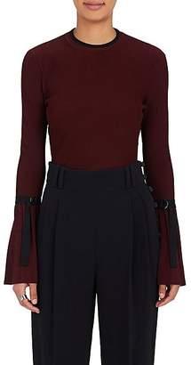 3.1 Phillip Lim Women's Flared-Sleeve Rib-Knit Sweater - Burgundy