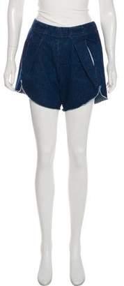 Zero Maria Cornejo Denim High-Rise Shorts