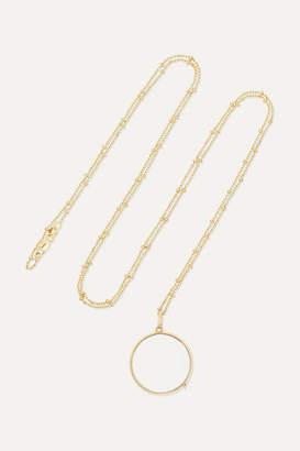 Loquet - 14-karat Gold Glass Necklace