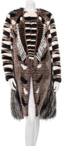 Fendi Fur Long Coat w/ Tags