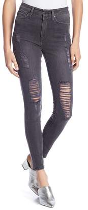 Good American Good Waist Distressed Skinny Jeans
