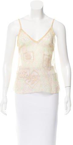 Chanel CC Print Silk Top w/ Tags