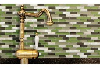 BEIGE Smart Tiles Mosaik Muretto Eco 10.20 x 9.10 Peel & Stick Wall Tile in Green &