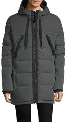 Andrew Marc Quilted Hooded Jacket