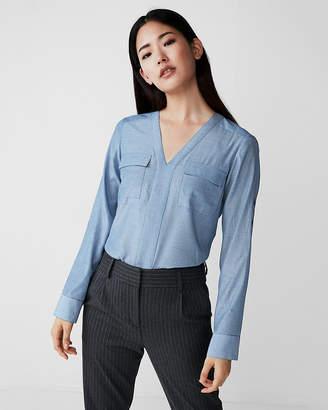 Express Petite Pindot Shirt