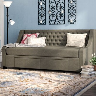 Darby Home Co Aron Upholstery Storage Twin Daybed Darby Home Co