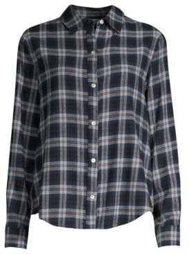 Clu Plaid Ruffle Trim Panel Shirt