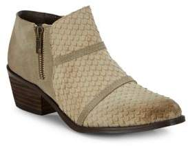 Charles by Charles David Almond-Toe Leather Ankle Boots