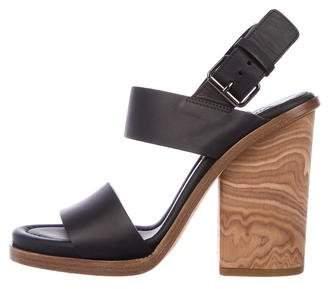 Vince Leather Peep-Toe Sandals