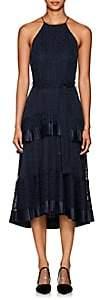 Zimmermann Women's Polka Dot Fil Coupé Halter Dress - Navy