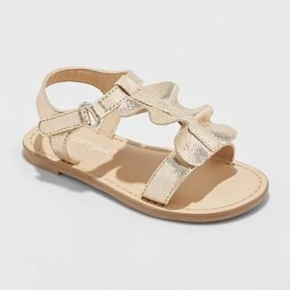 Cat & Jack Toddler Girls' Kalisa Ruffle Slide Sandals
