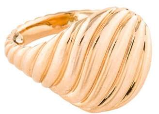 David Yurman 18K Sculpted Cable Pinky Ring