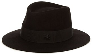 Maison Michel Andre Showerproof Felt Hat - Womens - Black