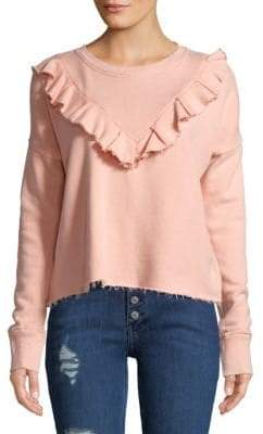 Free People Ruffle Trim Pullover